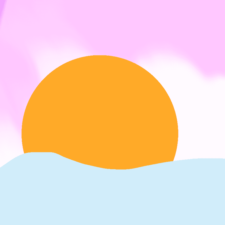 digital drawing of a sunset