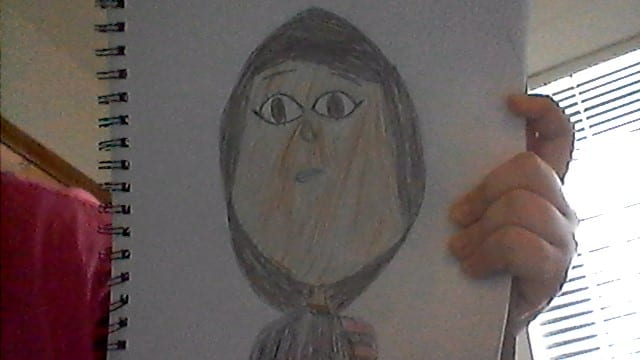 drawing of a girl with a hijab on
