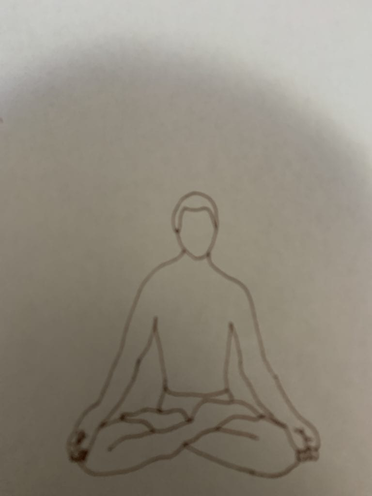 gesture drawing of a yoga pose