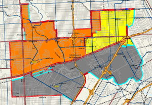 This is the current high school boundary map