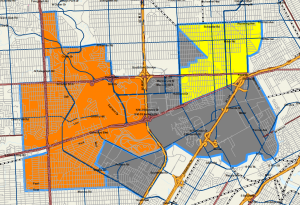This is how the high school boundaries would look using Proposal 1
