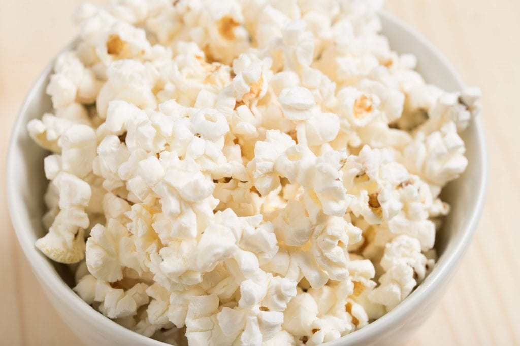 Small cup of popcorn