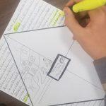 Student working on Diamond Summary Project