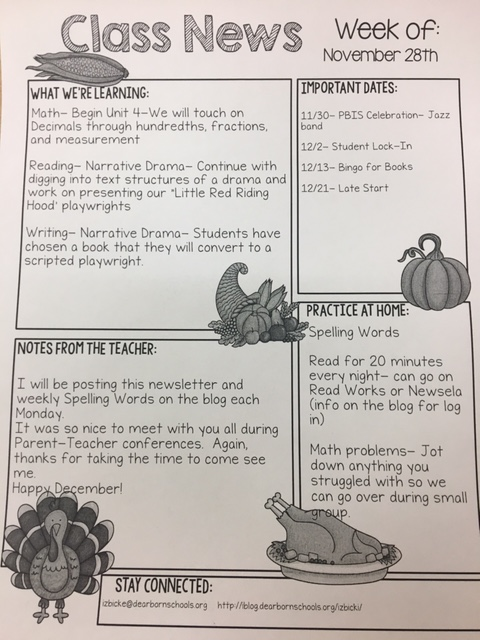 November 2016 – Mrs  Izbicki's 4th Grade