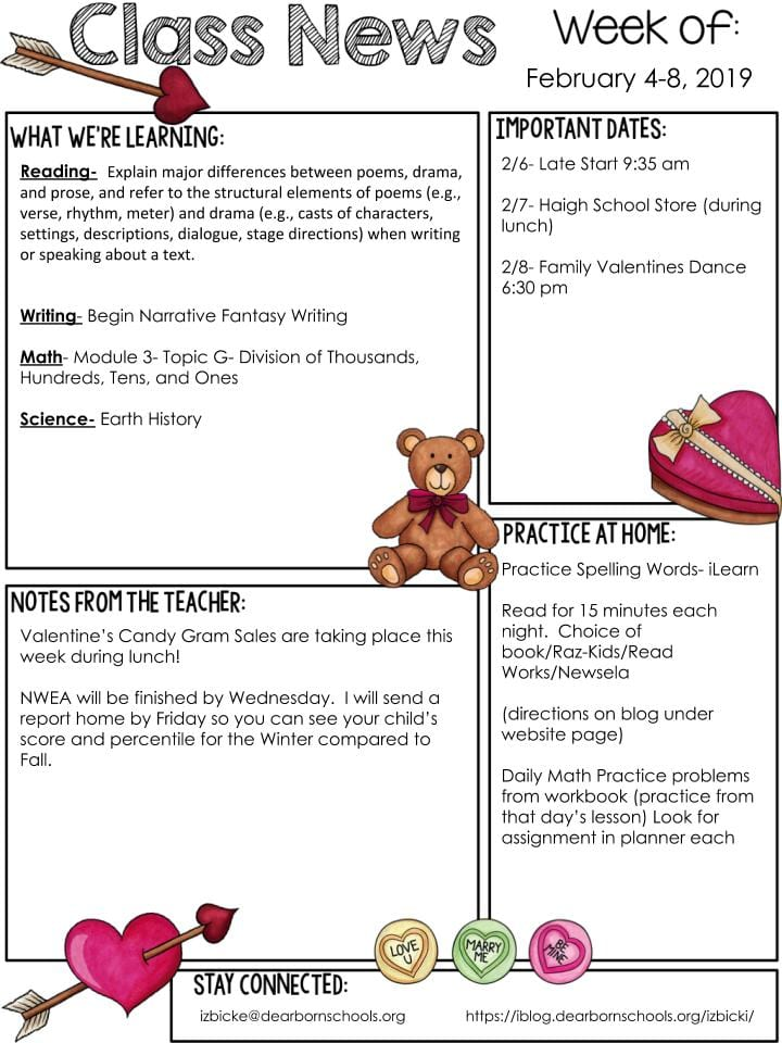 Mrs  Izbicki's 2nd Grade – Page 7 – Dearborn Public Schools