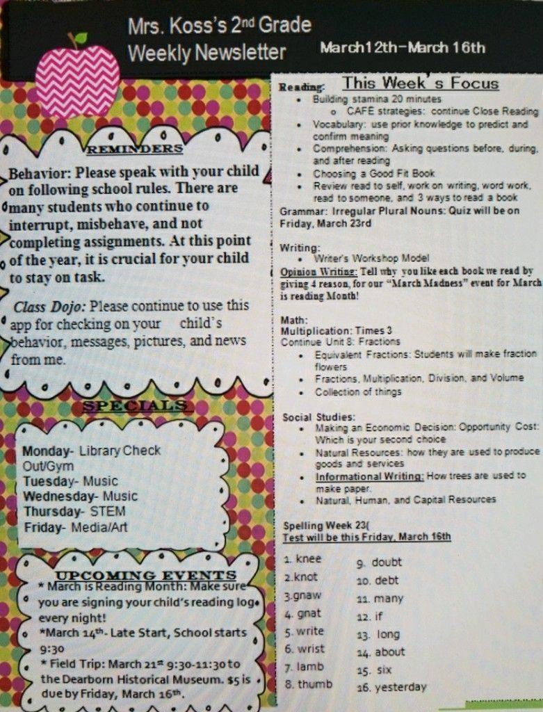 Kristin Koss   Mrs. Koss\' 2nd Grade   Page 4