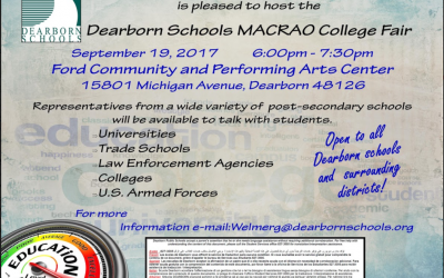 Register for Tomorrow's College Fair