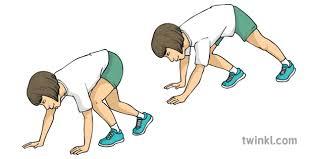 Bear Walk Exercise PE Gym KS2 Illustration - Twinkl