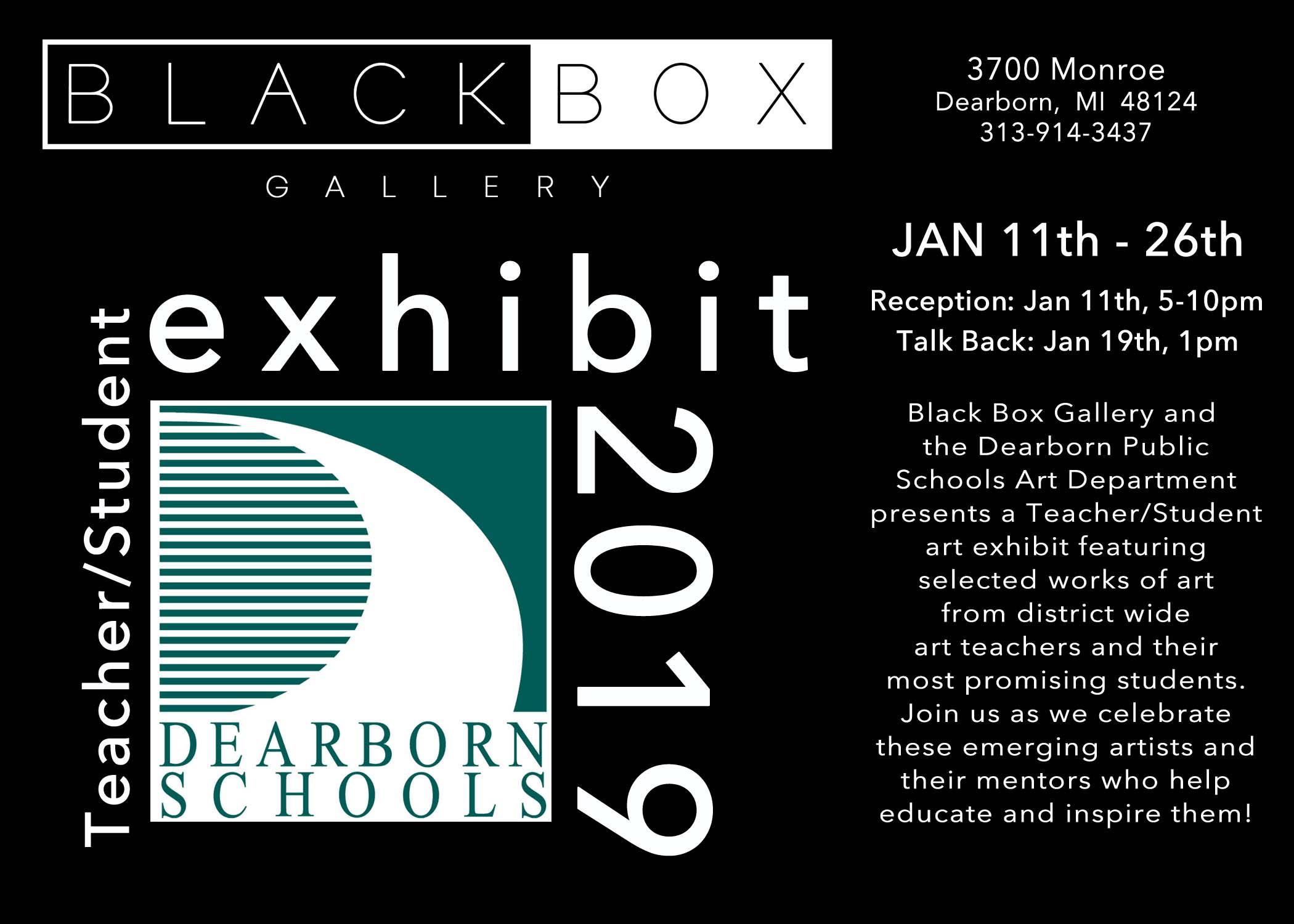 Black Box Gallery opening Friday 1/11/19! 5-10 pm!
