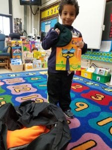 We shopped for a new book...like this Pete the Cat book!