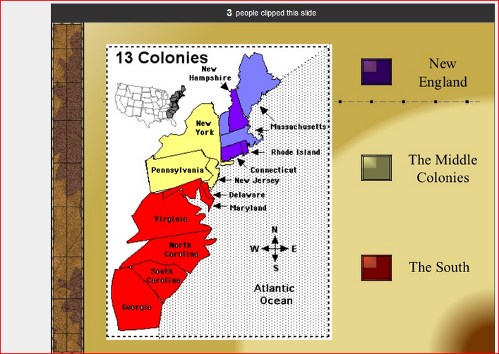 13 colonies new england middle and southern