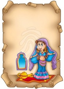 old-parchment-with-belly-dancer-paper-clipart-82858833