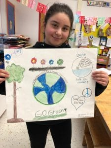 Students are working on their poster.