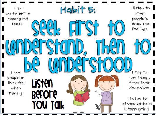 Habit 5 Assignment | STOUT MIDDLE SCHOOL