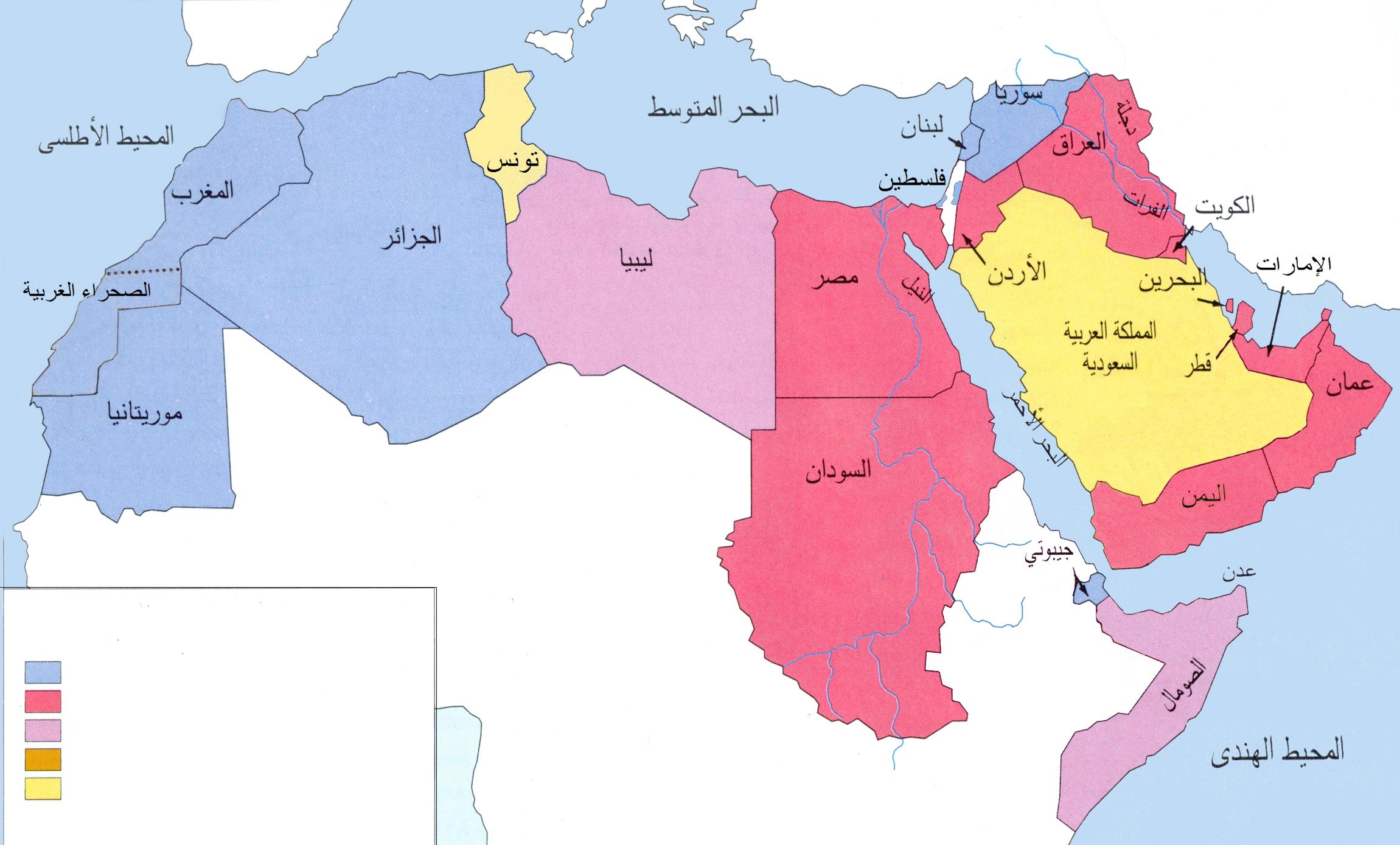 Arab world map