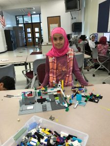 Girl with lego project