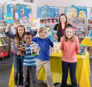 Children at book fair
