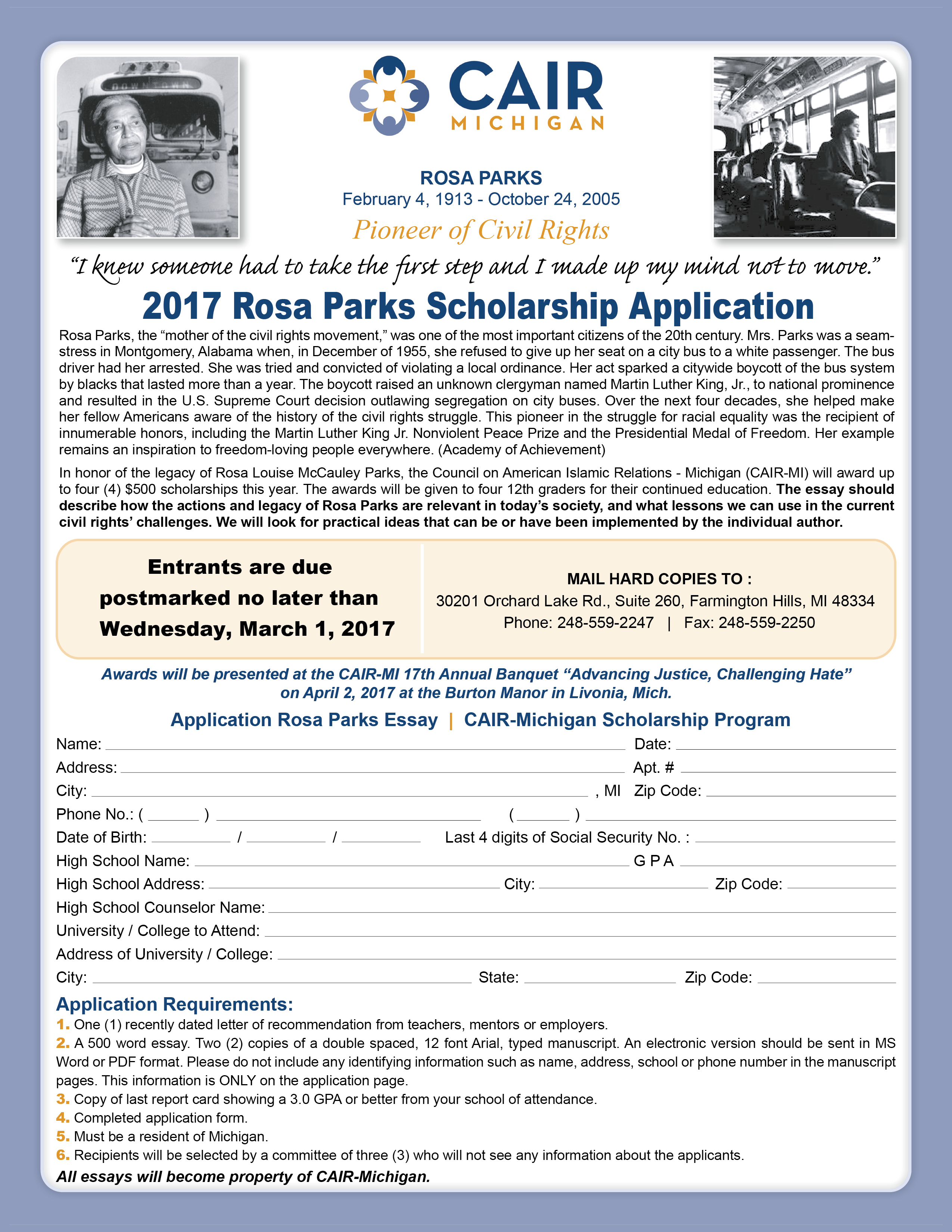 park scholarship essay The park scholarship is available to entering first - year students at north carolina state university selection for this award will be based on scholarship, leadership, service, and character you must be a us citizen and be endorsed by your guidance counselor to be considered for this award.