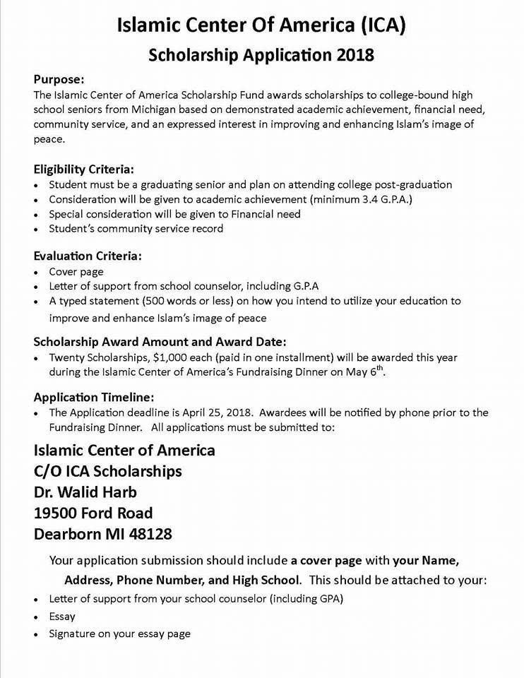 Scholarship Opportunities  Secondary Education Description And Instructions