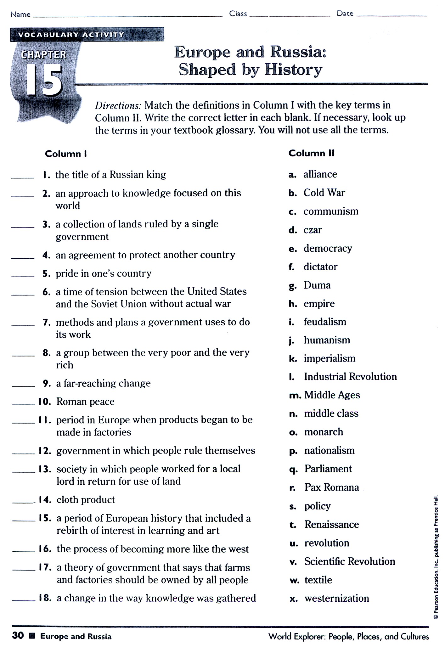 5Th Grade History Worksheets – Third Grade Social Studies Worksheets