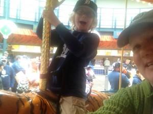 James and I at Tigers Ballpark