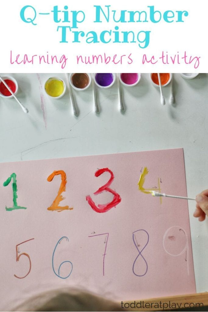 Q-Tip Number Tracing Activity - Toddler at Play - Activities ...