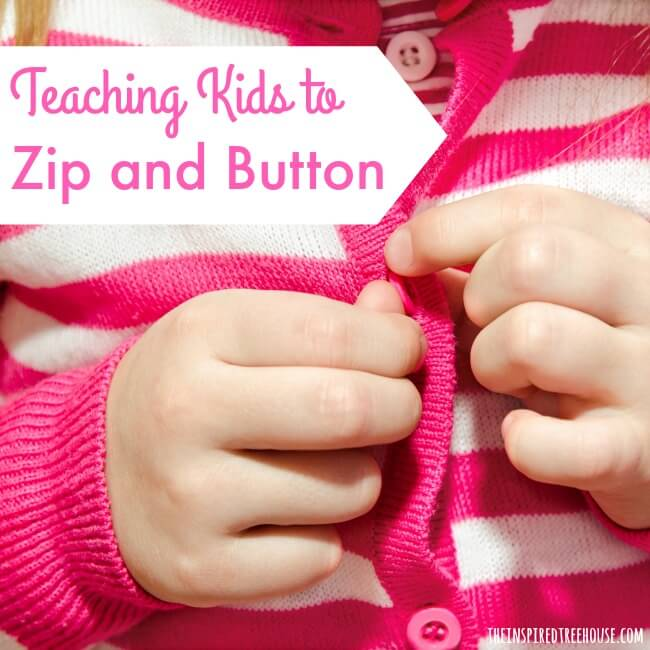 Activity to Teach Kids to Zip and Button