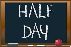 half day chalkboard