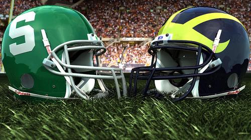 football helmets michigan michigan state
